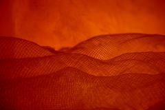 Surreal thermal-nuclear apocalyptic red landscape Stock Photos