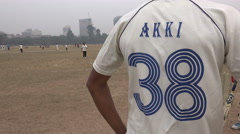 India sports, number and name on shirt of a cricket player in Kolkata park Stock Footage
