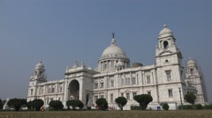 Facade of the Victoria Memorial building in Kolkata, India Stock Footage