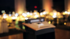 Microphone on a stand Stock Footage
