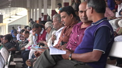 Spectators at horse race tracks in Kolkata, India Stock Footage