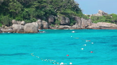 Ko Miang island, number 4 of Similan Islands Stock Footage