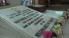 Tomb of Mother Teresa in Kolkata, India Stock Footage
