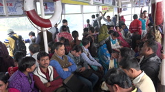 India, Kolkata commuters travel by ferry Stock Footage