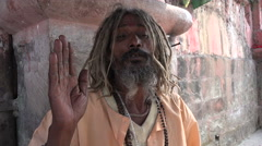 India religion, Hinduism, guru chanting in Kolkata Stock Footage