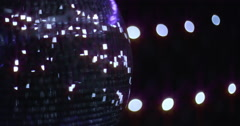 Mirrorball Disco Ball Left Side Violett Shine Stock Footage