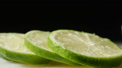 3300 Sliced Lime Close Up, 4K Stock Footage