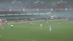 Soccer (football) match between FC Goa and Atletico Kolkata, India - stock footage