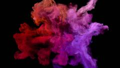 "Color explosion on black ""Red warmth"" Stock Footage"