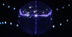 Mirrorball Disco Ball Ultra Violett Lights Flicker Stock Footage
