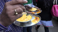 Indian office workers at lunch break in Kolkata Stock Footage