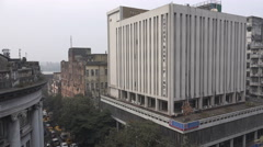 India Central Bank office, Kolkata branch, economy, monetary policy Stock Footage