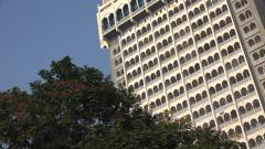 Taj Tower in Mumbai, part of the Taj Mahal Palace Hotel Stock Footage