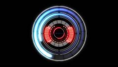 Holographic Circle Element 12 Stock Footage