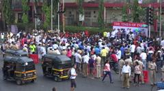 Political gathering, grassroots movement, environmental awareness, Mumbai India - stock footage