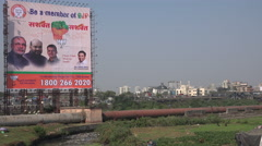 India, Mumbai, Prime Minister Modi, billboard, advertising, political party Stock Footage