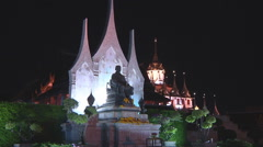 King Rama III Memorial at Bangkok in Thailand Stock Footage