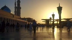 Nabawi Mosque Stock Footage
