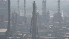 India, Mumbai industrial facility, oil refinery and gas distribution, pipelines - stock footage