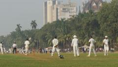 India cricket, Bombay University, popular sports played in a park - stock footage