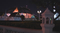 Wat Rachanadda Buddhist Temple at Bangkok in Thailand Stock Footage