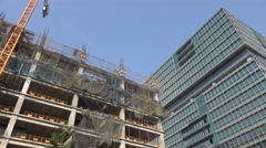Construction of new office buildings in Mumbai India Stock Footage