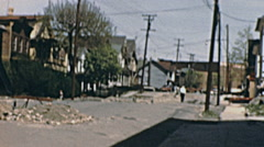 USA 1956: small town aftermath - stock footage