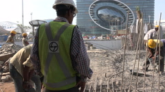 Construction site at Bandra Kurla Complex in Mumbai, India Stock Footage