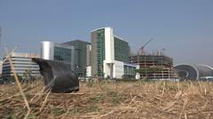 Mumbai India, Bandra Kurla Complex, business financial center, plastic bag Stock Footage