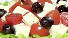 Caprese salad Stock Footage