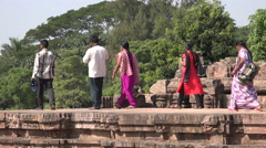 Groups of tourists visit the Konark Sun Temple in Odisha, India Stock Footage