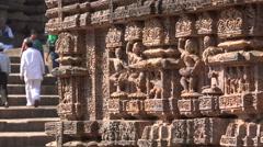 Konark Sun Temple, history, landmark, sculptures, erotic art, India - stock footage
