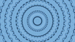 Amazing abstract icy kaleidoscopic pattern in blue and white colors. Stock Footage