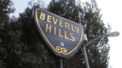 Sign Beverly hills Los Angeles CA Stock Footage