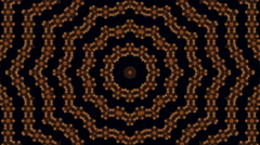 Amazing abstract concentric pattern in black, yellow and brown colors. Stock Footage