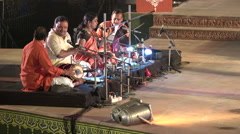 Traditional music band on stage during Konark festival in India Stock Footage