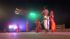 Traditional dance group in India, Konark Festival, culture - stock footage