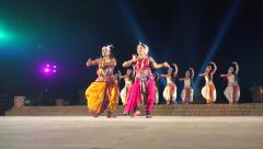 Classic Indian dance performance during festival in Konark, East India Stock Footage