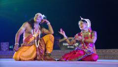 Traditional dance performance, India, love story, history, romance, drama - stock footage