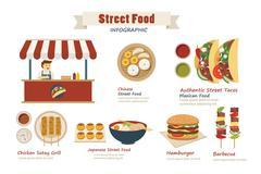 Street food infographic  flat design Stock Illustration