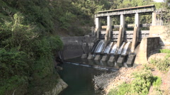 Small hydro power plant in Nepal Stock Footage