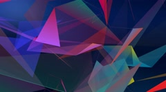 Geometric shapes color abstract motion background Stock Footage