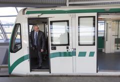 Subway train operator driver - stock photo