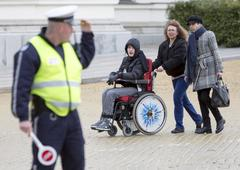Physical Impairment (Disabled) people protest Stock Photos