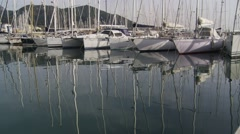 Boats on harbor 1 Stock Footage