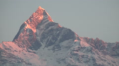 Sunrise, mountain peak, Himalayas, Annapurna ranges, time lapse, Nepal Stock Footage