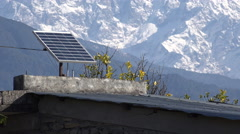 Nepal, mountain village, settlement, solar panel, power, electricity Stock Footage