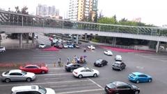 Shenzhen, China: city traffic landscape Stock Footage