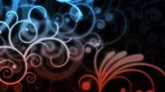 Abstract ornamented background Stock Footage