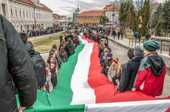 Stock Photo of Hungary 's Day celebrated in Saint George city in Romania
